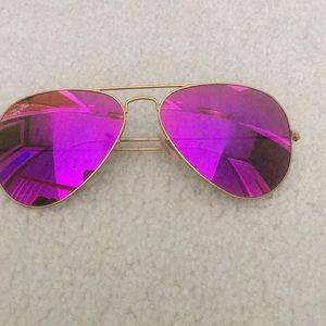 Pink RayBan sunglasses